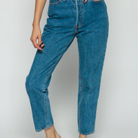 Levis Jeans Mom Jeans ANKLE Pants High Waisted 80s Denim Pants Levi Blue 90s Vintage Tapered Hipster Extra Small xs