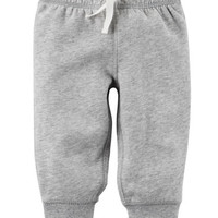 Brushed-Back Fleece Pull-On Pants
