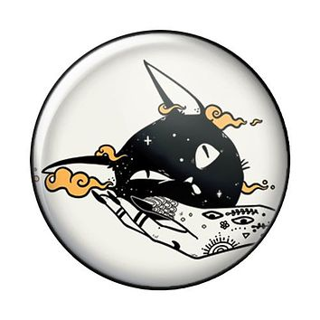 Cat Face Squish, 1-Inch Pin Button