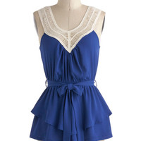Tangled Up In Cobalt Blue Top