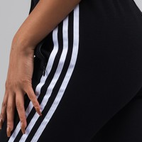 adidas Side Stripe Cuffed Hem Jogger Pant in Black