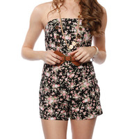 Papaya Clothing Online :: BELTED FLORAL ROMPER