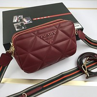 prada women leather shoulder bags satchel tote bag handbag shopping leather tote crossbody satchel 834