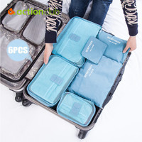 New 2016 Travelling Storage Bags 6pcs/set Home Clothes Organizer Toiletries Brand Product Storage Bags Set