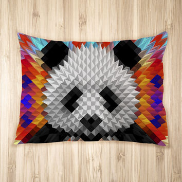 Geometric Panda Pet Bed