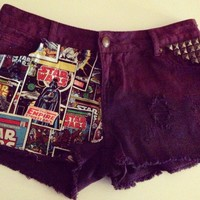 o'ak Denim — Star Wars dip dye studded shorts