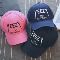 yeezy for president baseball hat