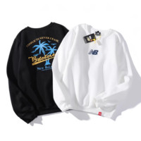 NEW BALANCE sells coconut roundneck hoodies for men and women with long sleeves