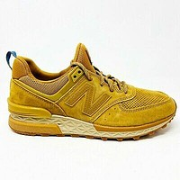 New Balance 574 Lifestyle Suede Beige Tan Gum Mens Size 8 Outdoor MS574CB