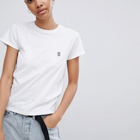 Carhartt WIP Shrunken T-Shirt With Embroidered Logo at asos.com