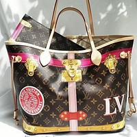 Louis Vuitton LV Retro Two-piece Fashion Ladies Shopping Bag Shoulder Bag Coin Purse