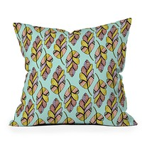 Allyson Johnson Native Feathers Throw Pillow