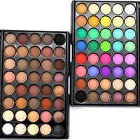 28/40 Colors Eye Shadow Makeup Cosmetic Shimmer Matte Eyeshadow Palette Set LY1