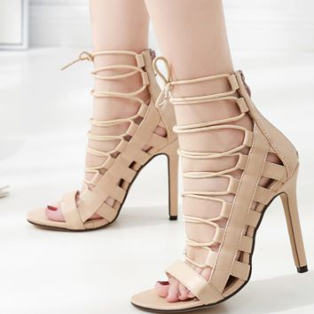 The new hot seller has a variety of sexy cross-strap sandals