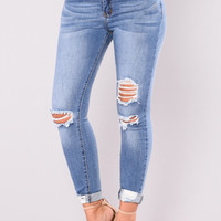 Henrietta II Jeans - Medium Blue