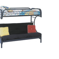 Black Metal Twin / Futon Bunk Bed Only