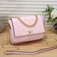 Women Leather Chain Tote Crossbody Satchel Shoulder Bag