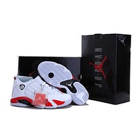 Air Jordan 14 Retro AJ14 White/Red Sneaker Shoe US 5.5-13