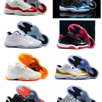 Jordan Retro 11 Basketball Shoes Mens Bred Citrus Concord Bred Georgetown GS Sneakers Designer Low Retro XI 11s For Men With Box Fast Delivery