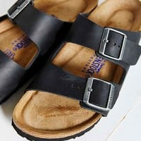 Birkenstock Arizona Oiled Soft Footbed Sandal- Black Us