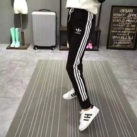 """Adidas"" Women Sport Casual Multicolor Stripe Sweatpants Leisure Pants Trousers"