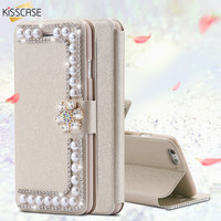 KISSCASE Case For Samsung Galaxy S4 S5 S6 S6 Edge Plus S7 Edge Galaxy S8 Plus Wallet Leather Cover For Samsung Galaxy Note 5 4 3