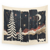 Society6 A Starry Night In The Mountains... Wall Tapestry