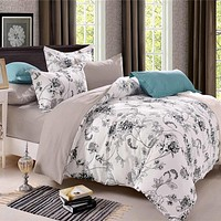 Country Style Comforter Bedding Sets Country Quilts Cover Cotton Queen Size/King Size Silk Bedding Set