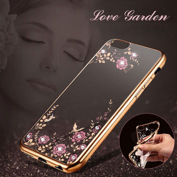 IST Original TPU Slim Silicone Cover Case For Iphone 5 5s 5se 6 6s 7 7s Plus Beautiful Flowers Phone Back Cases