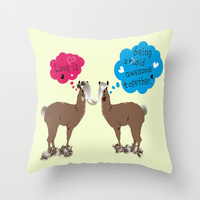 Love is being awesome together. Throw Pillow by Cindys