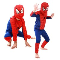 Lisli Cosplay Spider For Boys Costumes Kids Children Spider Men Height 90CM-140CM Child Men Costumes Cosplay Costumes HALL17