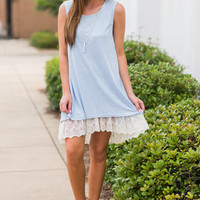 Easy To Say Dress, Light Blue