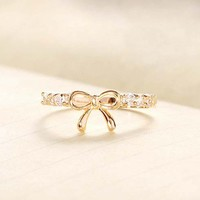 Delicate Ribbon Ring (2 Colors!)