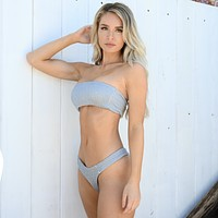 Beach Day Smocked Two Piece Swimsuit