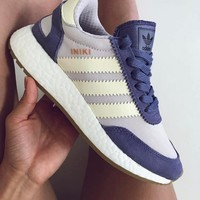 Adidas Iniki Runner Boost Purple/Beige Fashion Trending Running Sports Shoes Sneakers One-nice™