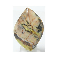 Yellow Lizardite with Magnetite Unset Jewelry Stone Cabochon 54 carats