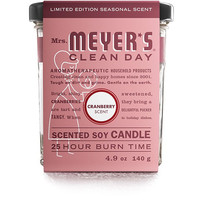 Mrs. Meyer's Soy Candle - Cranberry - Small Glass - 4.9 oz