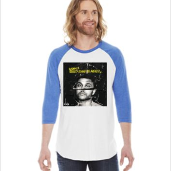 beauty behind the madness the weeknd -  3/4 Sleeve Raglan Shirt
