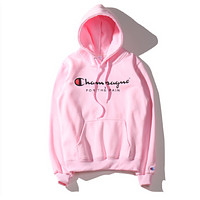 The classic logo hooded velvet sweater lovers with high-quality sweater