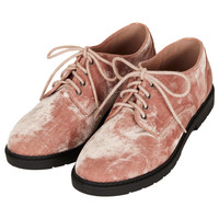 METRO Velvet Lace Up Shoes - New In This Week - New In - Topshop USA