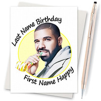 Drake Birthday Card. Funny Birthday Card. Happy Birthday. Drake Gift. Drake Music. Rap Music. Hip Hop Gift. Drizzy OVO Card For Boyfriend