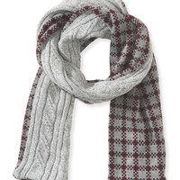 Aeropostale  Cable-Knit Check Reversible Scarf