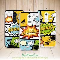 Cartoon boom bang style comic case, personalized custom name text, for iPhone 6, Samsung S5/Note4, Sony, LG Nexus, Nokia Lumia, HTC One, Moto(A06)