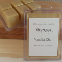 Vanilla Chai Scented 100% Soy Wax Melt Tart - Warm and Relaxing -Triple Scented