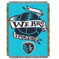 Sporting Kansas City MLS Woven Tapestry Throw Blanket (48x60)