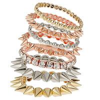 Rhinestone and Spike Bracelet Pack - Jewelry - Bags & Accessories - Topshop USA