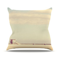 "Myan Soffia ""Toffee - Marshmallow"" Sandy Beach Outdoor Throw Pillow"