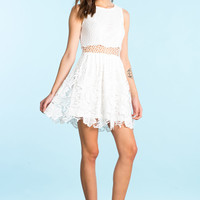 Daisy Crochet Fit&Flare Dress