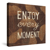 Leaf Inspiration-- Enjoy Every Moment Canvas Wall Art