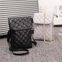 Womens PU Leather Cell Phone Shoulder Bag Small Crossbody Purses Pouch Lady Wallet with 2pcs Shoulder Strap